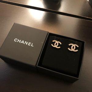 Chanel Logo Diamond Earrings